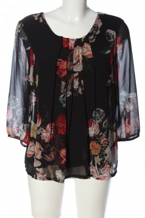 Vero Moda Langarm-Bluse Allover-Druck Business-Look