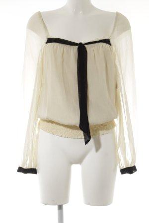 Vero Moda Langarm-Bluse creme-schwarz Business-Look