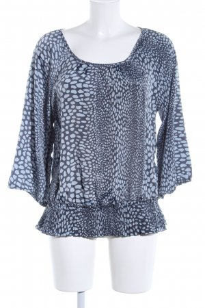 Vero Moda Langarm-Bluse blau Animalmuster Casual-Look