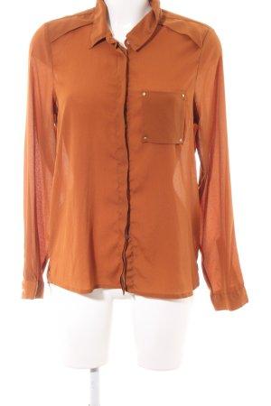 Vero Moda Langarm-Bluse hellorange Business-Look