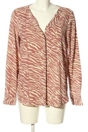 Vero Moda Langarm-Bluse pink-wollweiß Casual-Look