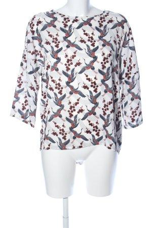 Vero Moda Langarm-Bluse Motivdruck Casual-Look
