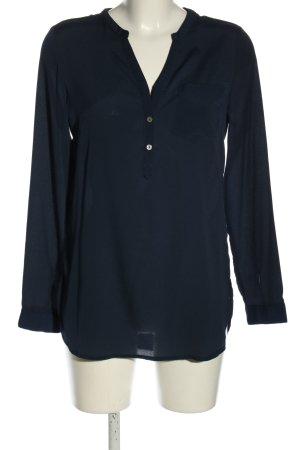 Vero Moda Langarm-Bluse weiß-schwarz grafisches Muster Casual-Look