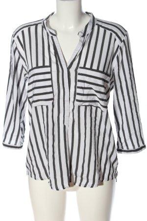 Vero Moda Langarm-Bluse weiß-schwarz Streifenmuster Casual-Look