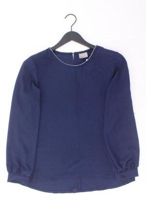 Vero Moda Langarmbluse Größe L neuwertig mit Glitzer blau aus Polyester