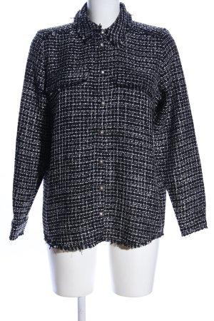 Vero Moda Langarmhemd schwarz-weiß Allover-Druck Business-Look