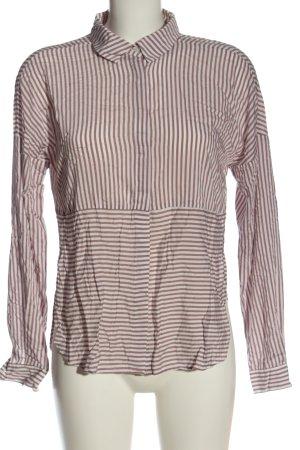 Vero Moda Langarmhemd weiß-pink Allover-Druck Business-Look