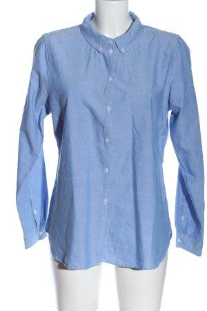 Vero Moda Langarmhemd blau meliert Casual-Look