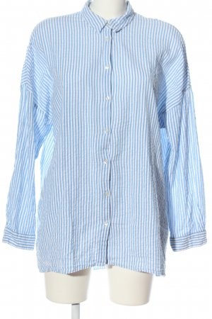 Vero Moda Langarmhemd blau-weiß Streifenmuster Casual-Look