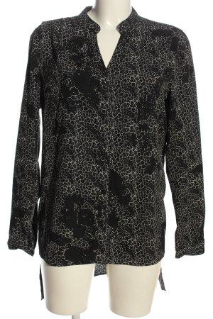 Vero Moda Langarmhemd schwarz-weiß abstraktes Muster extravaganter Stil