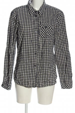 Vero Moda Langarmhemd schwarz-wollweiß Karomuster Casual-Look