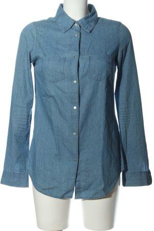 Vero Moda Langarmhemd blau Casual-Look