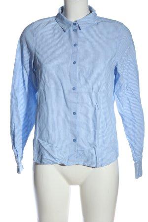 Vero Moda Langarmhemd blau-weiß Allover-Druck Business-Look