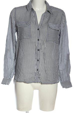 Vero Moda Langarmhemd schwarz-weiß Streifenmuster Casual-Look