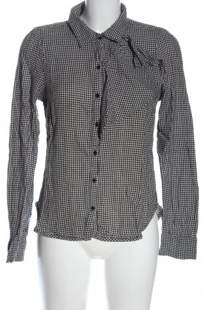 Vero Moda Langarmhemd schwarz-weiß Casual-Look