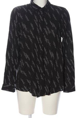 Vero Moda Langarmhemd schwarz-weiß Allover-Druck Casual-Look