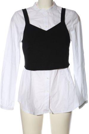 Vero Moda Langarmhemd weiß-schwarz Casual-Look