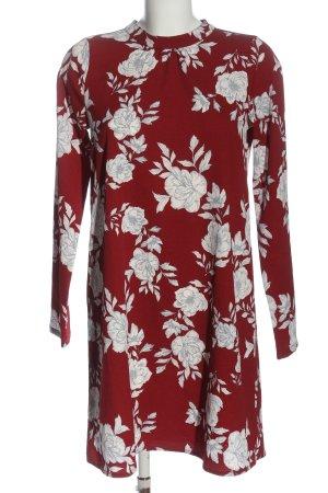 Vero Moda Langarmkleid rot-weiß Blumenmuster Elegant