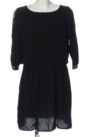 Vero Moda Langarmkleid schwarz Streifenmuster Casual-Look
