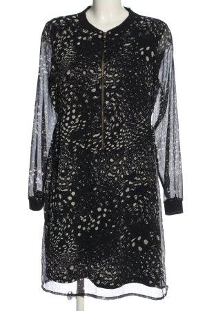 Vero Moda Langarmkleid schwarz-wollweiß abstraktes Muster Casual-Look