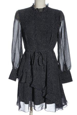 Vero Moda Langarmkleid schwarz-weiß Allover-Druck Elegant