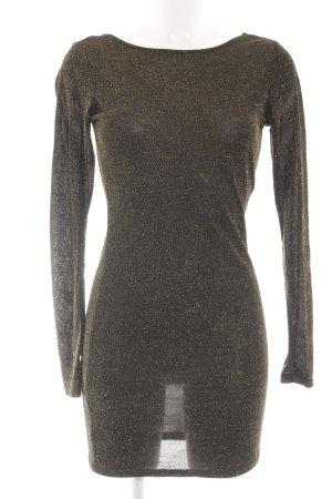 Vero Moda Langarmkleid schwarz-goldfarben Elegant