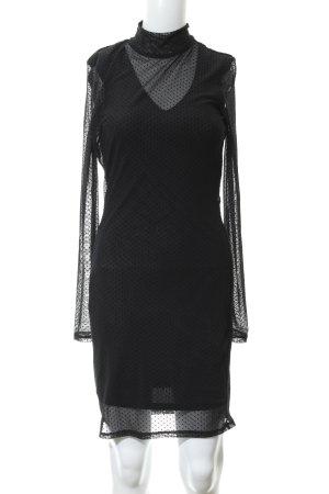 Vero Moda Langarmkleid schwarz Punktemuster Elegant