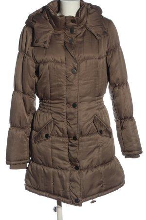 Vero Moda Lange Jacke braun Steppmuster Casual-Look