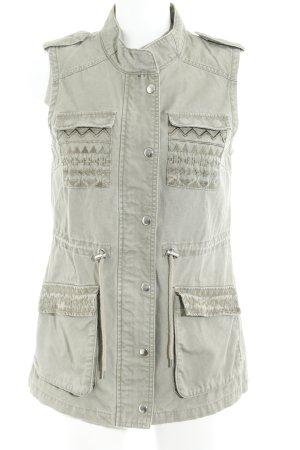 Vero Moda Lange Jacke grüngrau Casual-Look