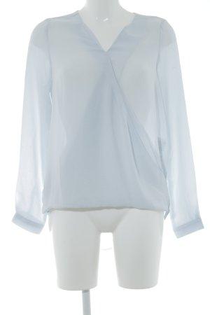 Vero Moda Blusa de cuero azul celeste estilo clásico