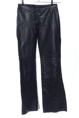 Vero Moda Lederhose schwarz Casual-Look