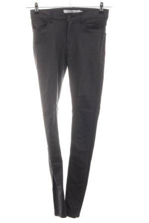 Vero Moda Pantalone in pelle grigio chiaro stile casual