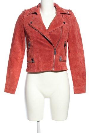 Vero Moda Lederjacke rot extravaganter Stil