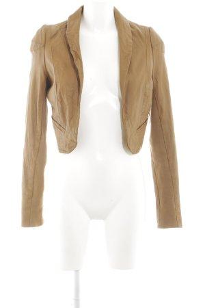Vero Moda Lederjacke bronzefarben-braun Casual-Look