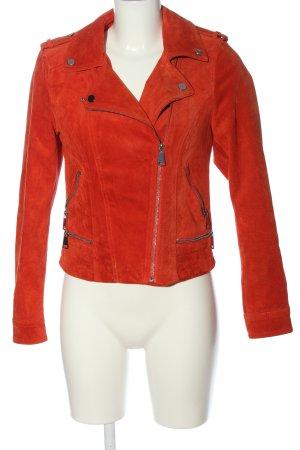 Vero Moda Chaqueta de cuero rojo look Street-Style