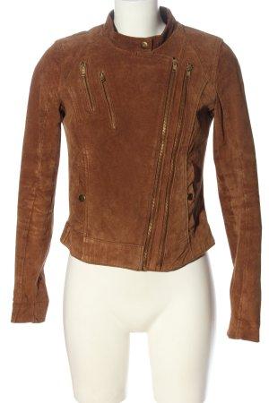 Vero Moda Veste en cuir brun style décontracté