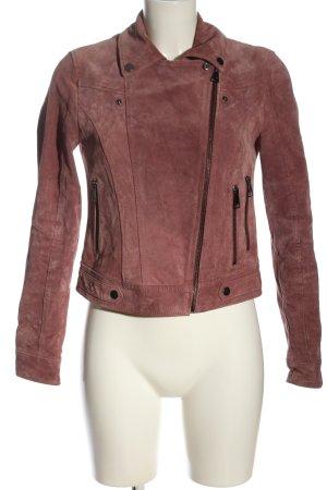 Vero Moda Leather Jacket pink casual look