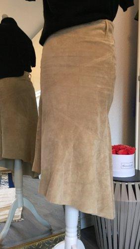 Vero Moda Leather Skirt camel-beige leather