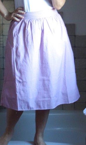 Vero Moda, leichter Sommerrock, zart gestreift, rosa weiß, Baumwolle, Naturfaser, Midi Länge, knieumspielend, ausgestellt, kaschiert schön, neu, ungetragen, Gr. S, Gr. 36