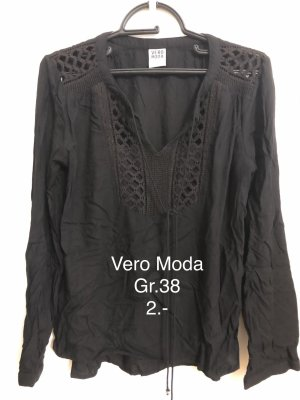 Vero Moda Gehaakt shirt zwart