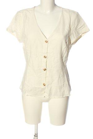 Vero Moda Lniana bluzka w kolorze białej wełny W stylu casual