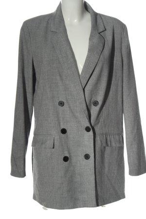 Vero Moda Long-Blazer hellgrau meliert Business-Look
