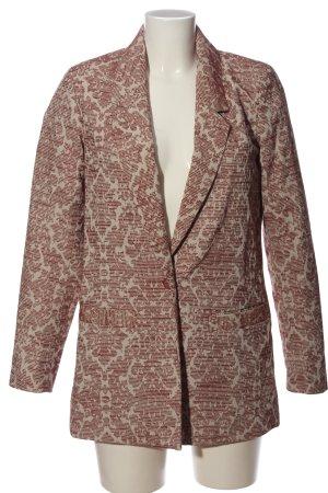 Vero Moda Long-Blazer rot-creme abstraktes Muster Casual-Look