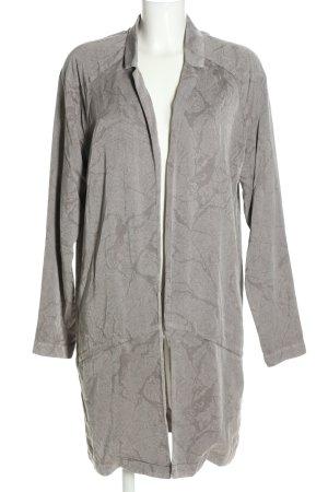 Vero Moda Long-Blazer hellgrau grafisches Muster Casual-Look
