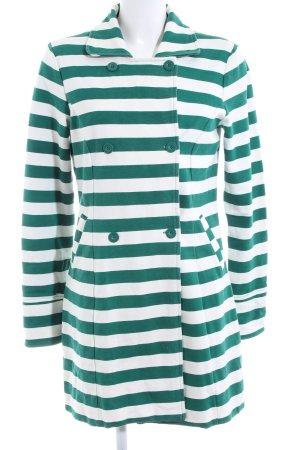 Vero Moda Long-Blazer grün-weiß Streifenmuster Casual-Look
