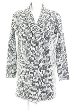 Vero Moda Long-Blazer schwarz-weiß Allover-Druck Casual-Look