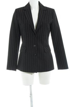 Vero Moda Long-Blazer schwarz-wollweiß Nadelstreifen Business-Look