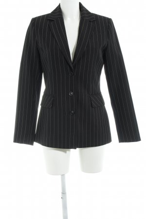 Vero Moda Long-Blazer schwarz-wollweiß Business-Look