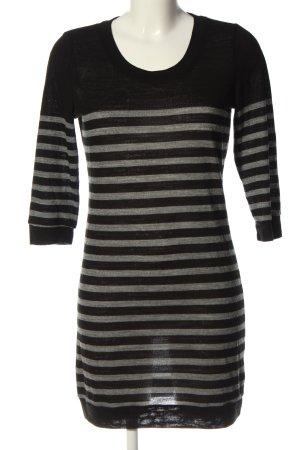 Vero Moda Long-Bluse schwarz-hellgrau Streifenmuster Casual-Look