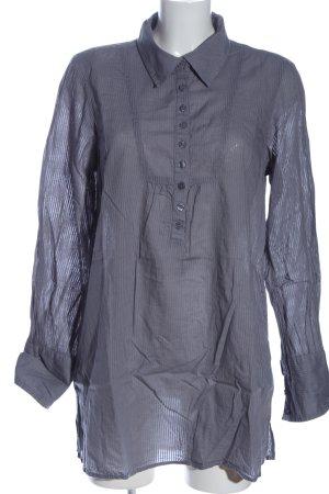 Vero Moda Long-Bluse blau Streifenmuster Casual-Look
